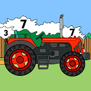 Tractors Color by Number - Vehicles Coloring Book 1.3
