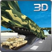 Army Cargo Plane Airport 3D 2.3