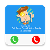 Call From Funnel vision family Prank,Fake Call 1.0
