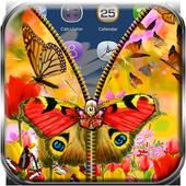 Butterfly Zipper Lock Screen 1.1.2