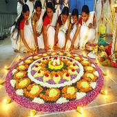 Flower Rangoli Designs Onam Athapookalam 1.0