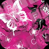 Pink Butterflie Keyboard Theme 1.4