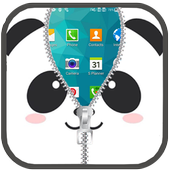 Panda Lock Screen Zipper 1.2