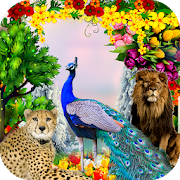 Peacock & Nature Photo Frames 2.1