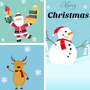 Christmas Grid Photo Collage 🌟 Layout Collage 1.5