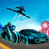 Light Bike Stunt Transform Car Driving Sim 2019 1.0