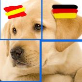 Puzzle Animals: Spanish-German
