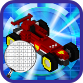 3D Cars Color by Number - LoPoly Pixel art 1.0