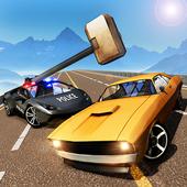 Hammer Car Crash : Police Gangster Chase