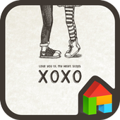 love you xoxo dodol theme 4.1