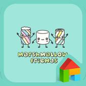 marshmallow friend dodol theme 4.1