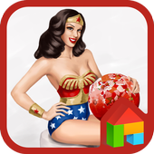 pinup wonder woman dodol theme 4.1