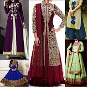 Fancy Anarkali Kurti Dresses Salwar neck Designs 13