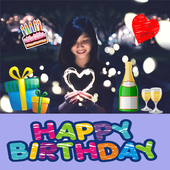 Happy Birthday Stickers Pack Editor To Make Card 1.0