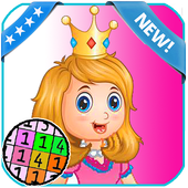 Princess Coloring - Color By number