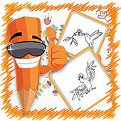 Free Coloring Book- Bird Paint