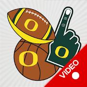 Oregon Ducks Animated Selfie Stickers