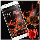 Neon Red Heart Theme 1.1.2