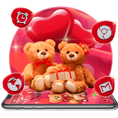 Red Love Teddy Bear Theme 1.1.2