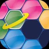 com.reddoak.spacehexapuzzle icon