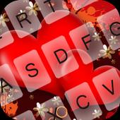 GO Keyboard Red Heart 1.3