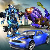 Ultimate Wild Lion Robot Transform Car Attack 12.0