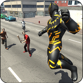 Panther Hero Crime City: Superhero Fighting Games 1.0