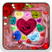 Roses Hearts on Screen 8.0