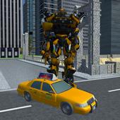 Futuristic Robot Taxi 1
