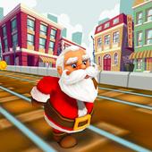Santa Claus Gold Run for Christmas Gifts