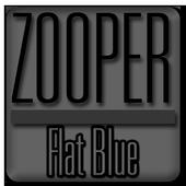 Flat Blue - Zooper Widget Pro 3.11
