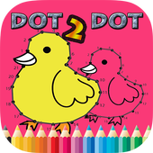 Dot to Dot Coloring Book Kids.
