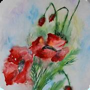 Poppies. Flower watercolor 1.0