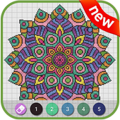Mandala Pixel Art – Coloring by Number 1.0.0