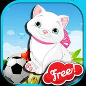 Funny soccer cat for kids 1.00