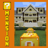 Lucky Block Mansion Map for MCPE