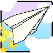 Flying! Paper plane flight