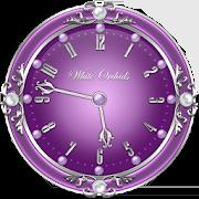 White Orchids Clock Widget 2.1