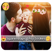 Square Instapic Emoji Stickers