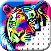 Animals Color by Number: Animal Pixel Art 1