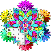 Mandala Color by Number: Mandala Pixel Art 3