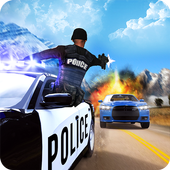 Police Car Uphill Climb Chase