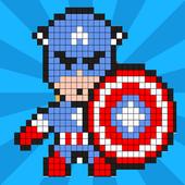 Superhero Color by Number - Pixel Art Coloring 1.0
