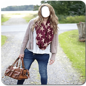 Jeans Scarf photo frames 1.0