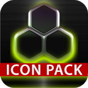 GLOW LIME icon pack HD 3D