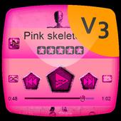 Pink skeleton PlayerPro Theme 1.2 Muddy Green