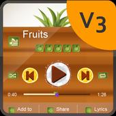 Fruits PlayerPro Skin 2.0.3 Clay Brown