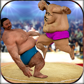 Sumo Wrestlers Ring Battle