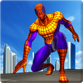 Flying Spider Rope Hero: Crime City Rescue Mission 1.0