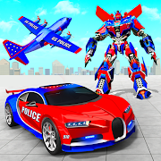 US Police Robot Car Transporter Police Plane Game 1.1